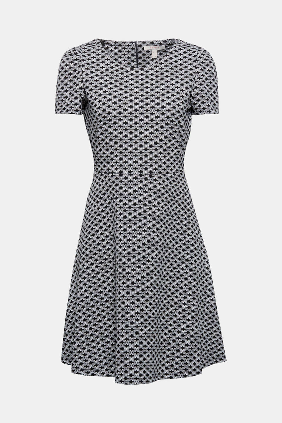 Looks super chic and is just as comfy: jersey dress with an ornamental jacquard pattern and a swirling skirt! The percentage of elastane provides a fantastic, figure-hugging fit.