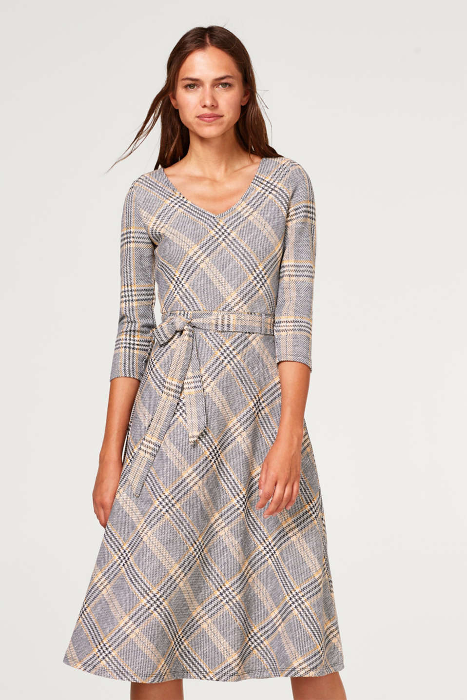 Esprit - Midi dress in a Prince of Wales check look