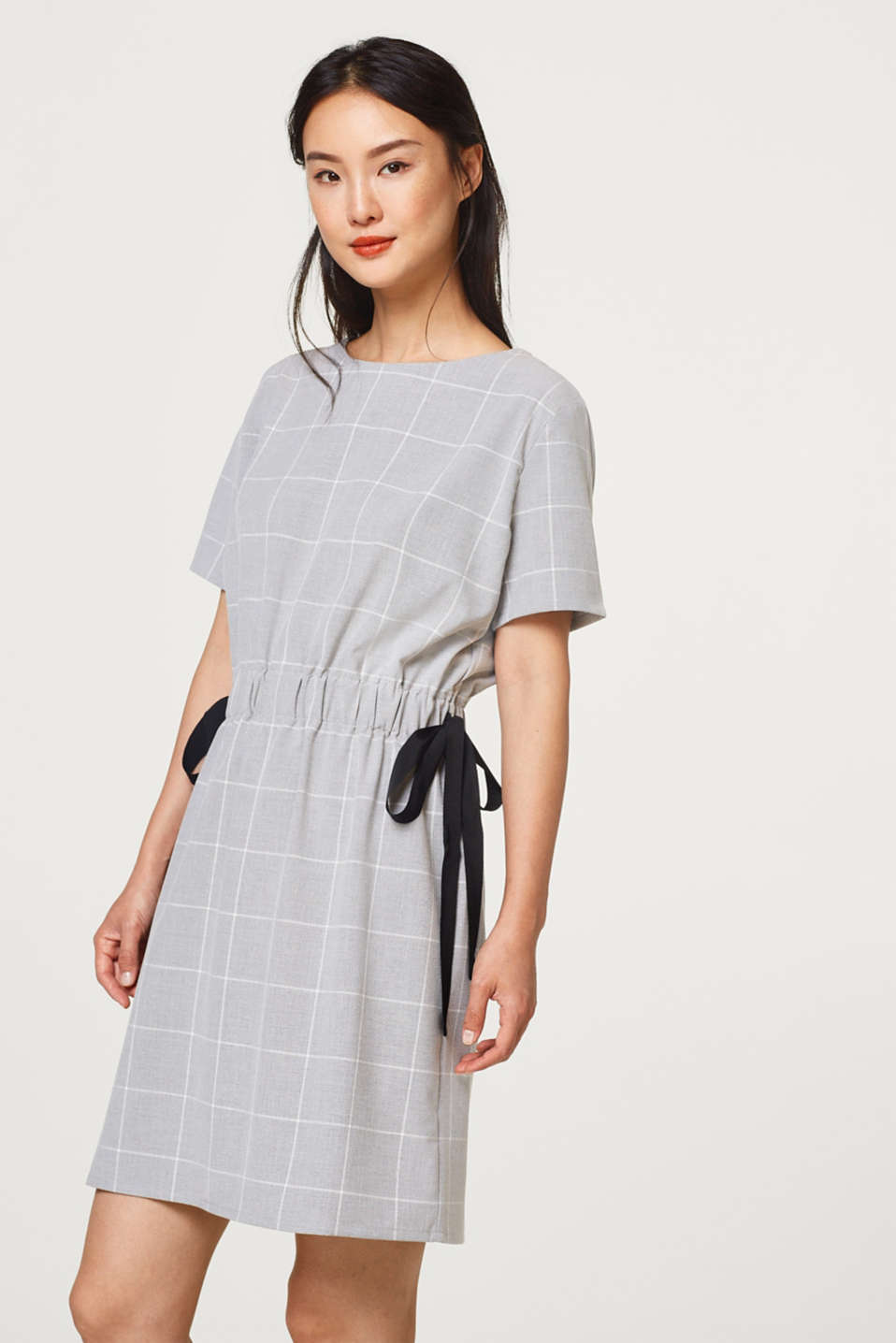 Esprit - Stretch dress with side bows