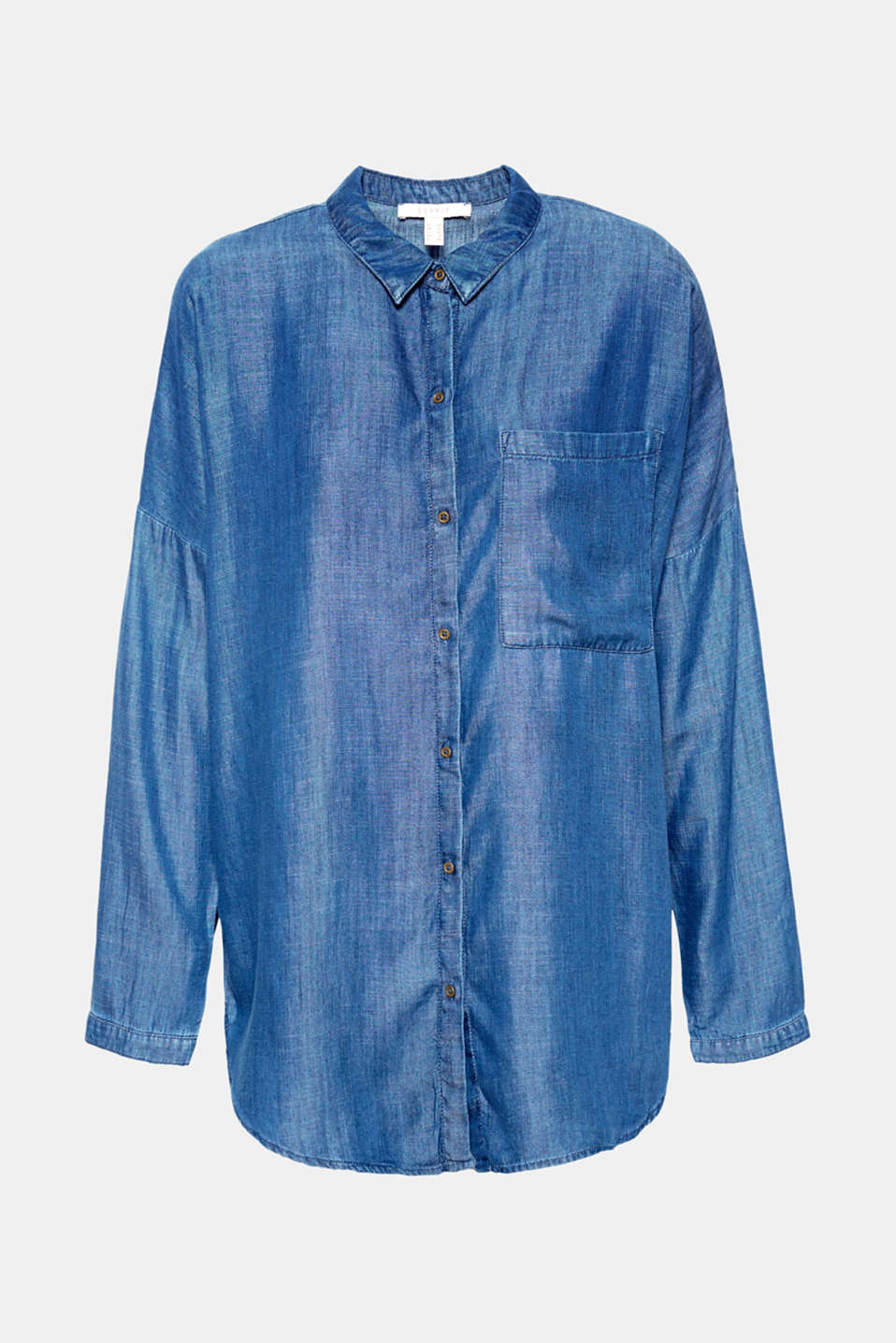The soft material and casual cut make this lyocell shirt in a denim look a real feel-good piece!