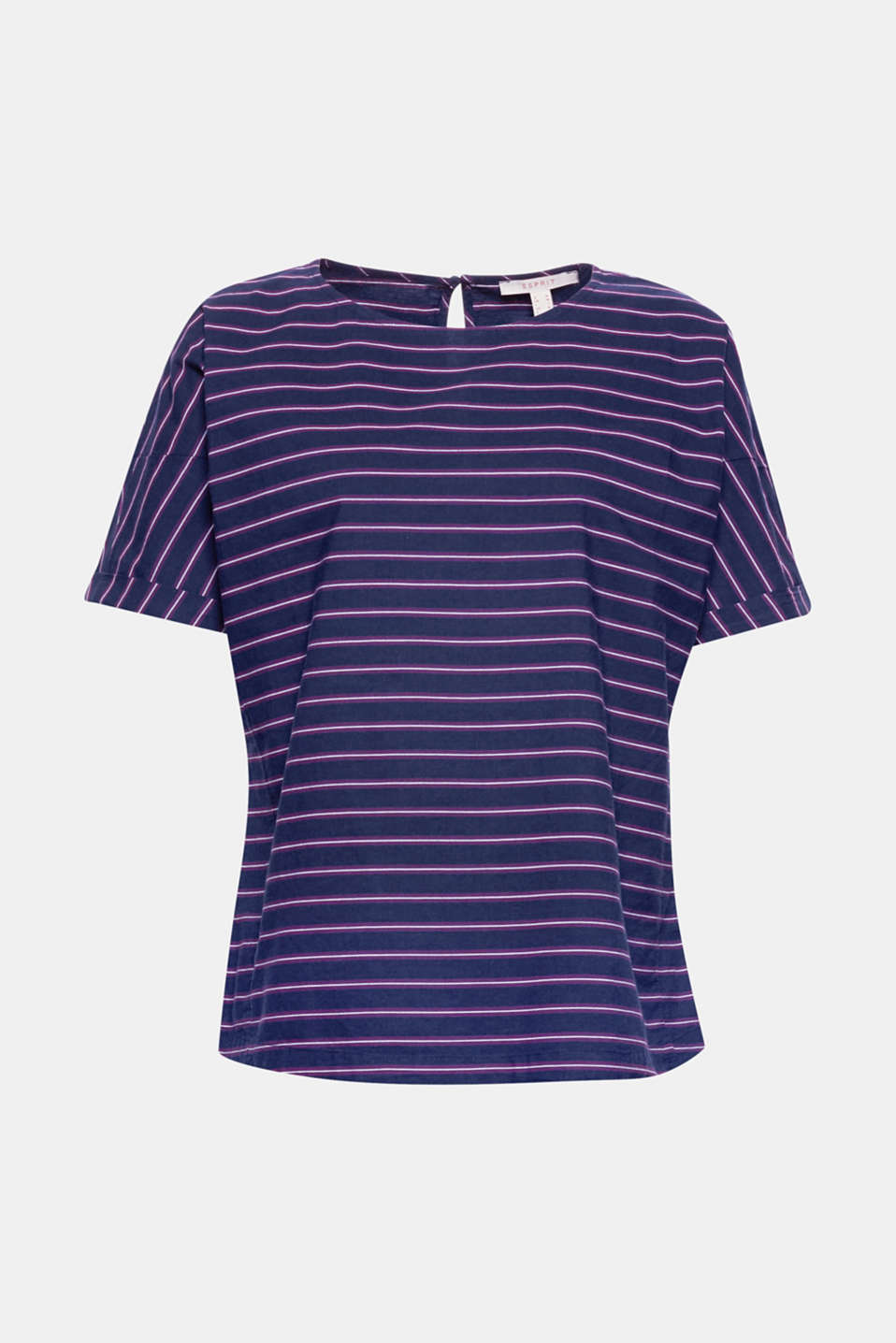 We can't get enough of stripes this summer: stylish cotton blouse with mock batwing sleeves!