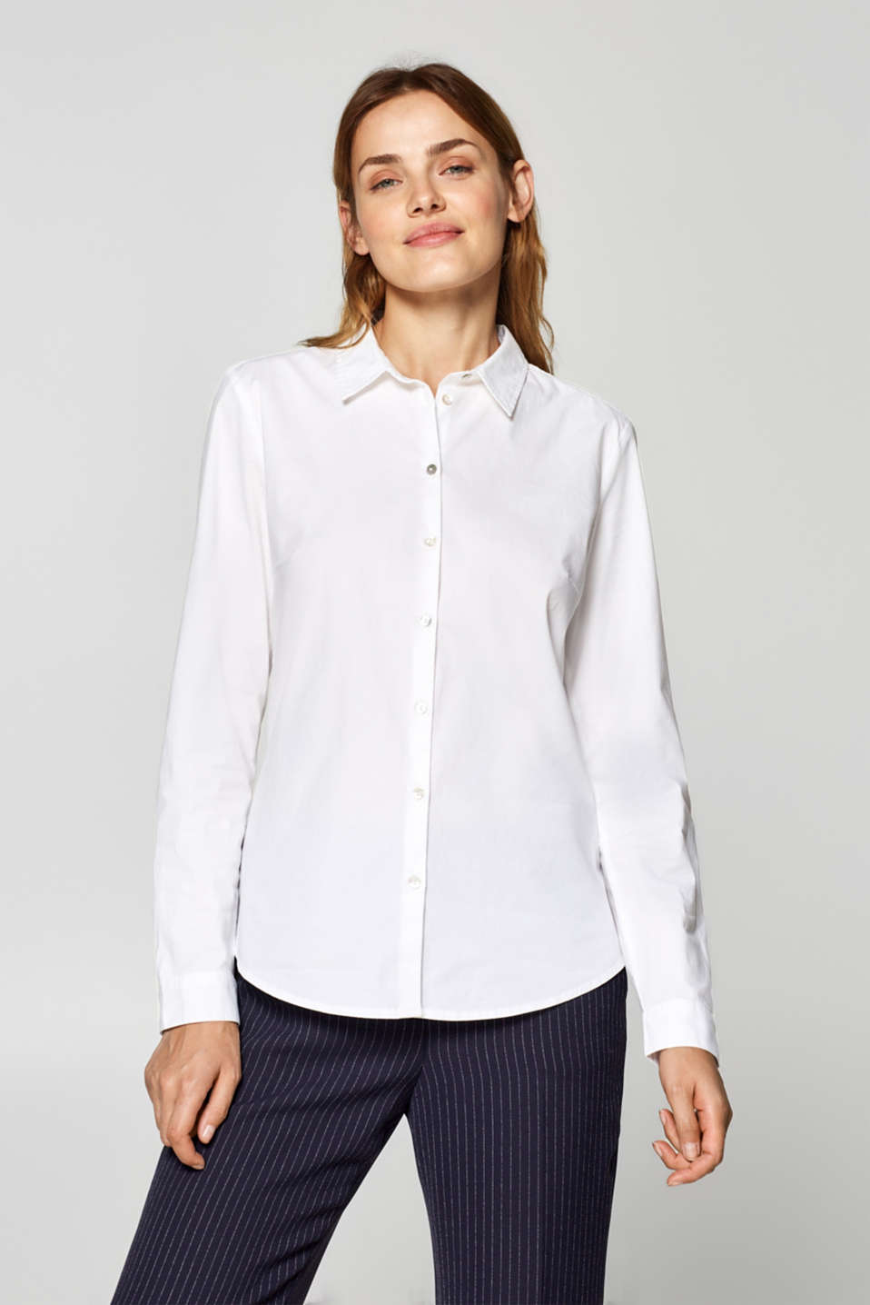 Esprit - Basic stretch cotton shirt blouse