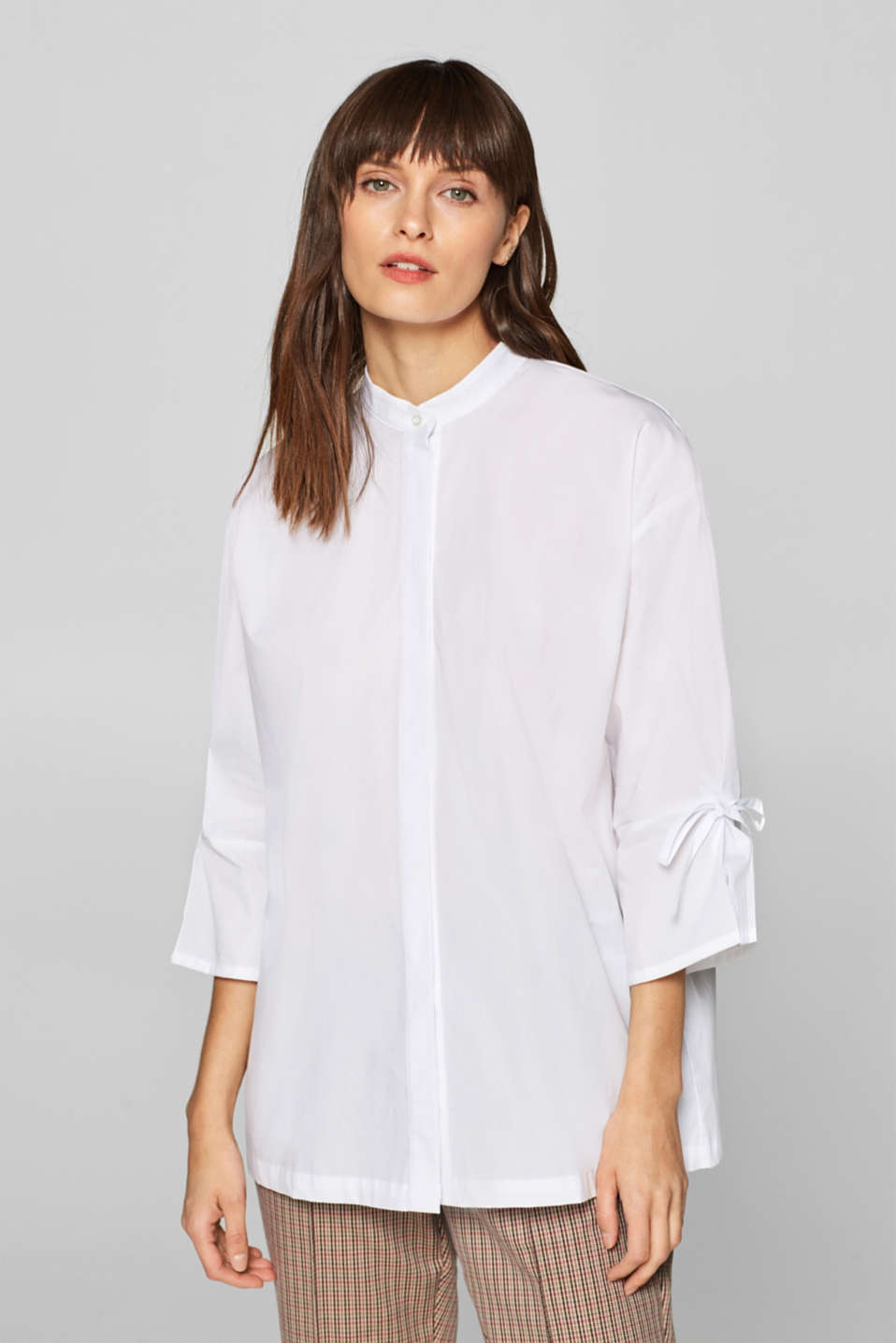 Esprit - Oversized stretch blouse with bows