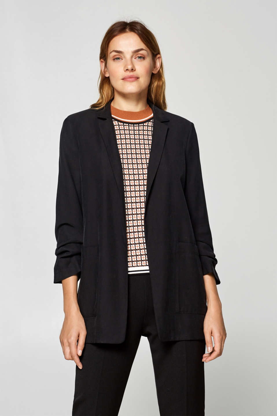 Esprit - Oversized blazer with gathered sleeves