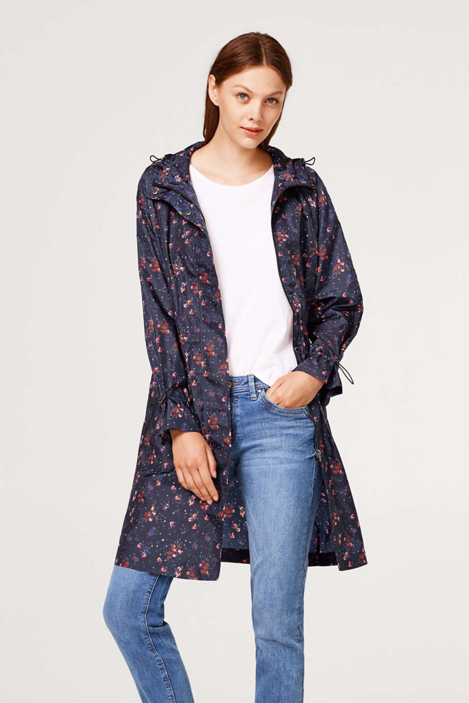 Esprit - Unlined nylon parka with a print