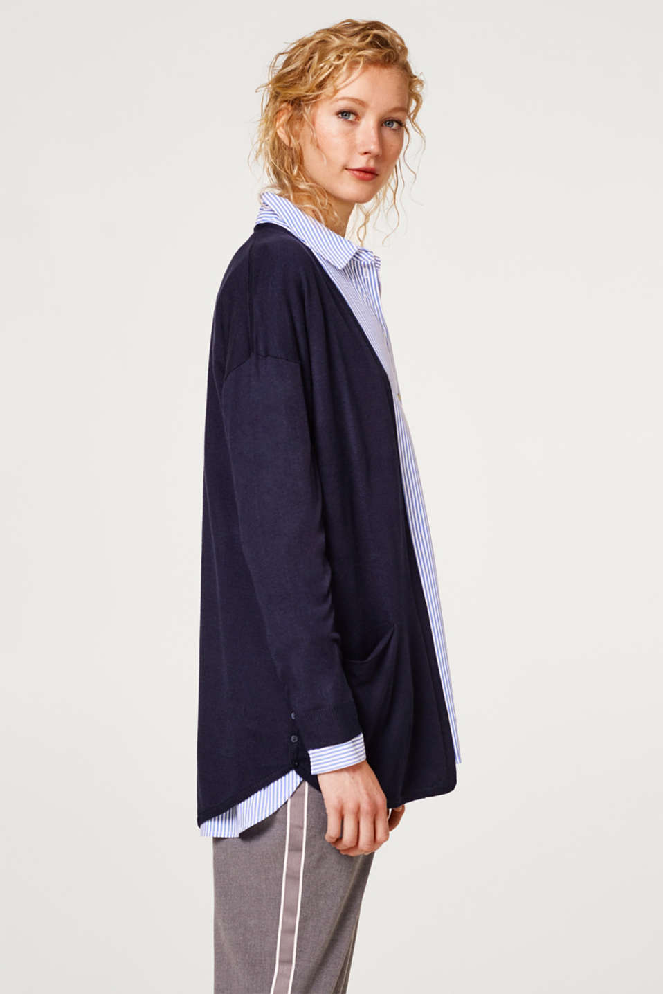 Esprit - Open-fronted soft knit cardigan