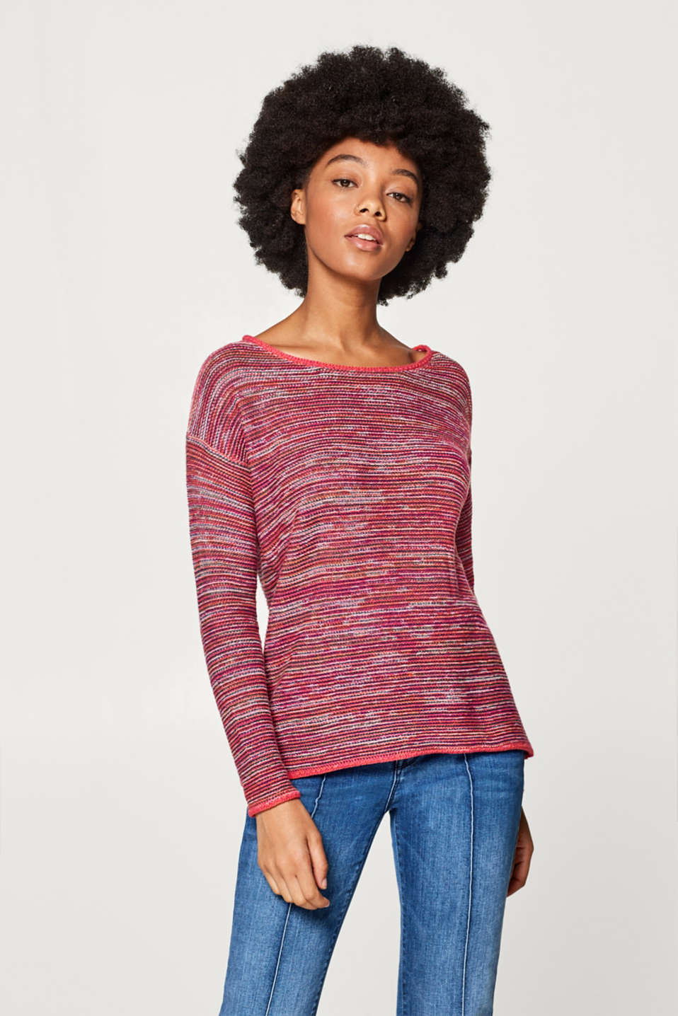 Esprit - Textured, multi-colour jumper, 100% cotton