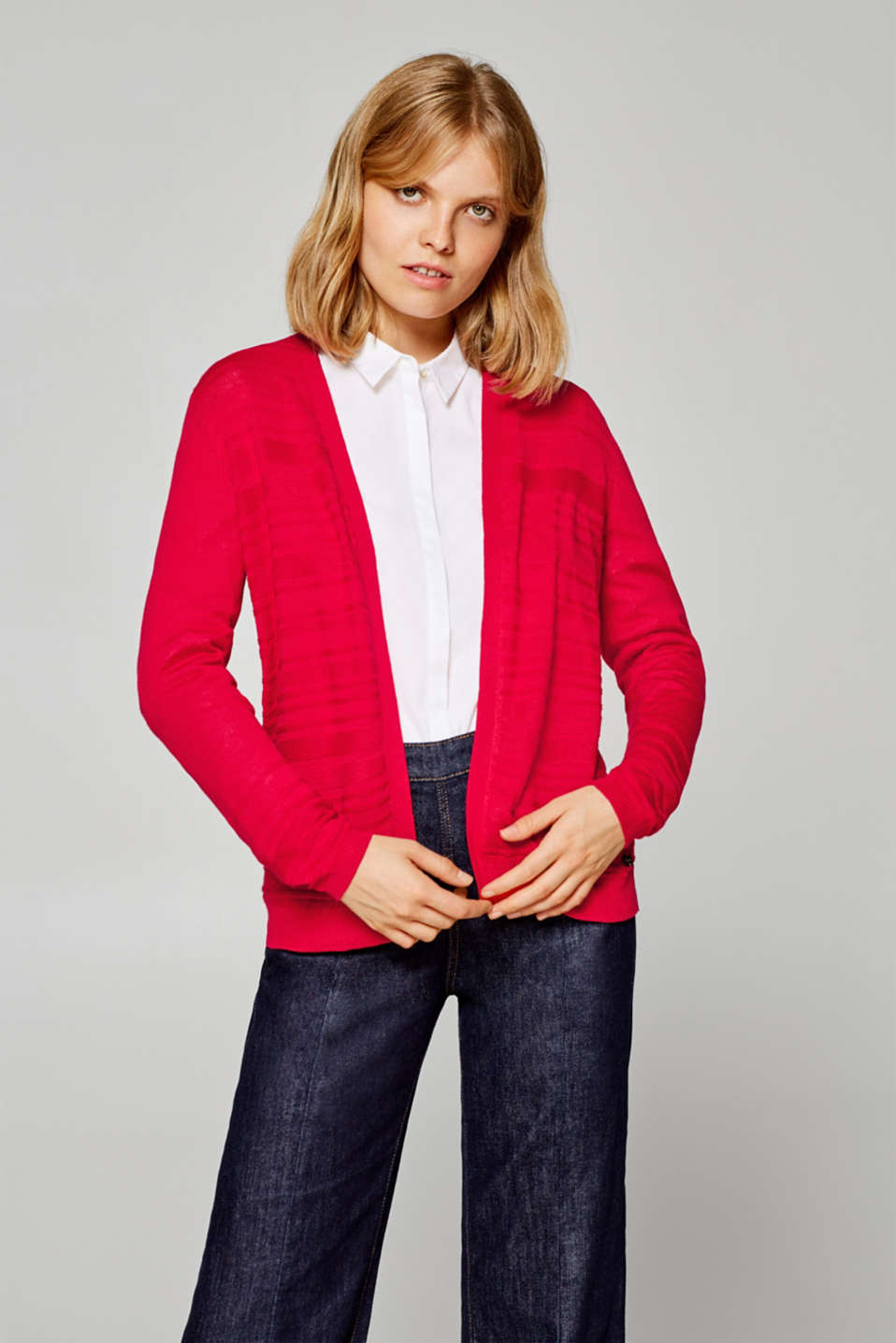 Esprit - Delicate cardigan with a fine texture