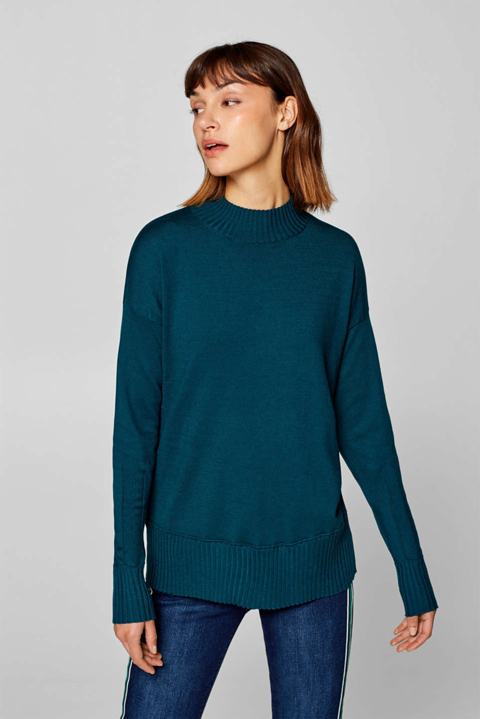 Esprit - Jumper with openwork details
