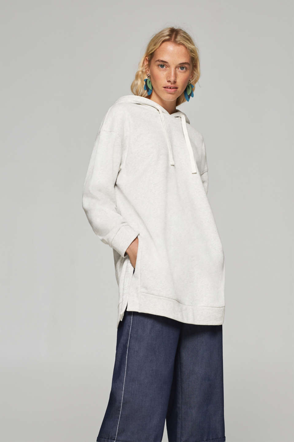 Esprit - Oversized hoodie in blended cotton