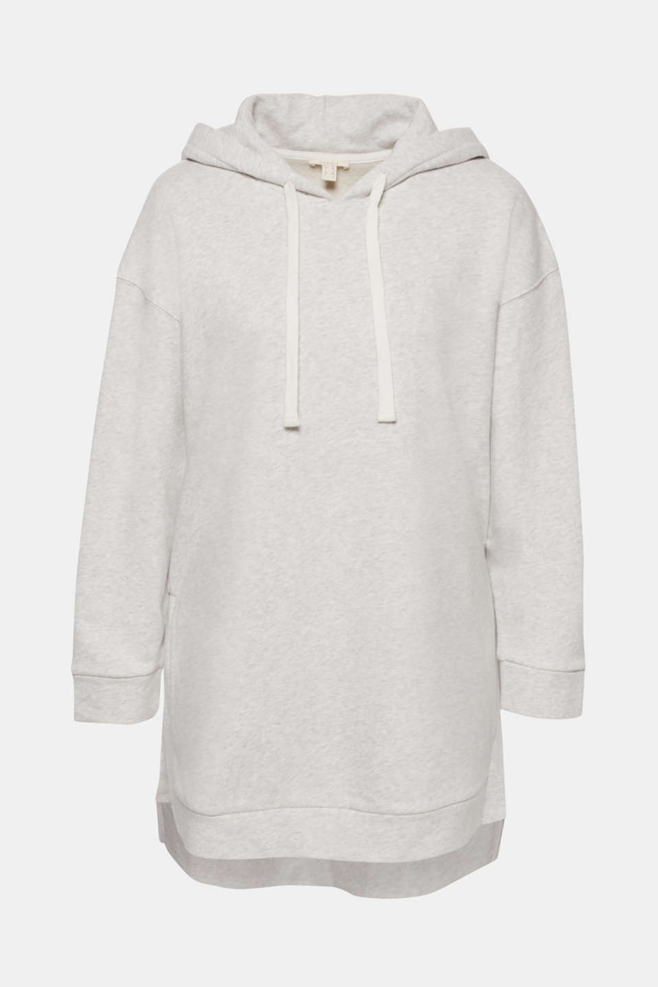The rubberised print with an ESPRIT logo turns this comfortable hoodie in an oversized look into a sporty head-turner.