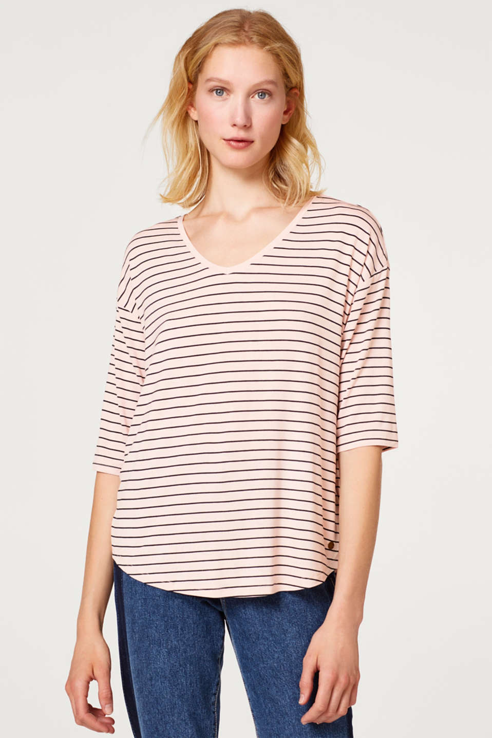 Esprit - Stretch T-shirt in a casual cut