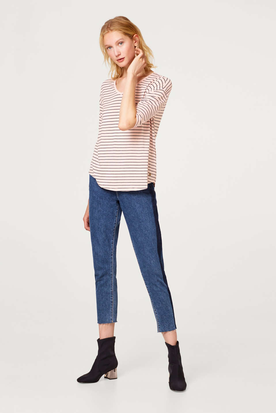Stretch T-shirt in a casual cut