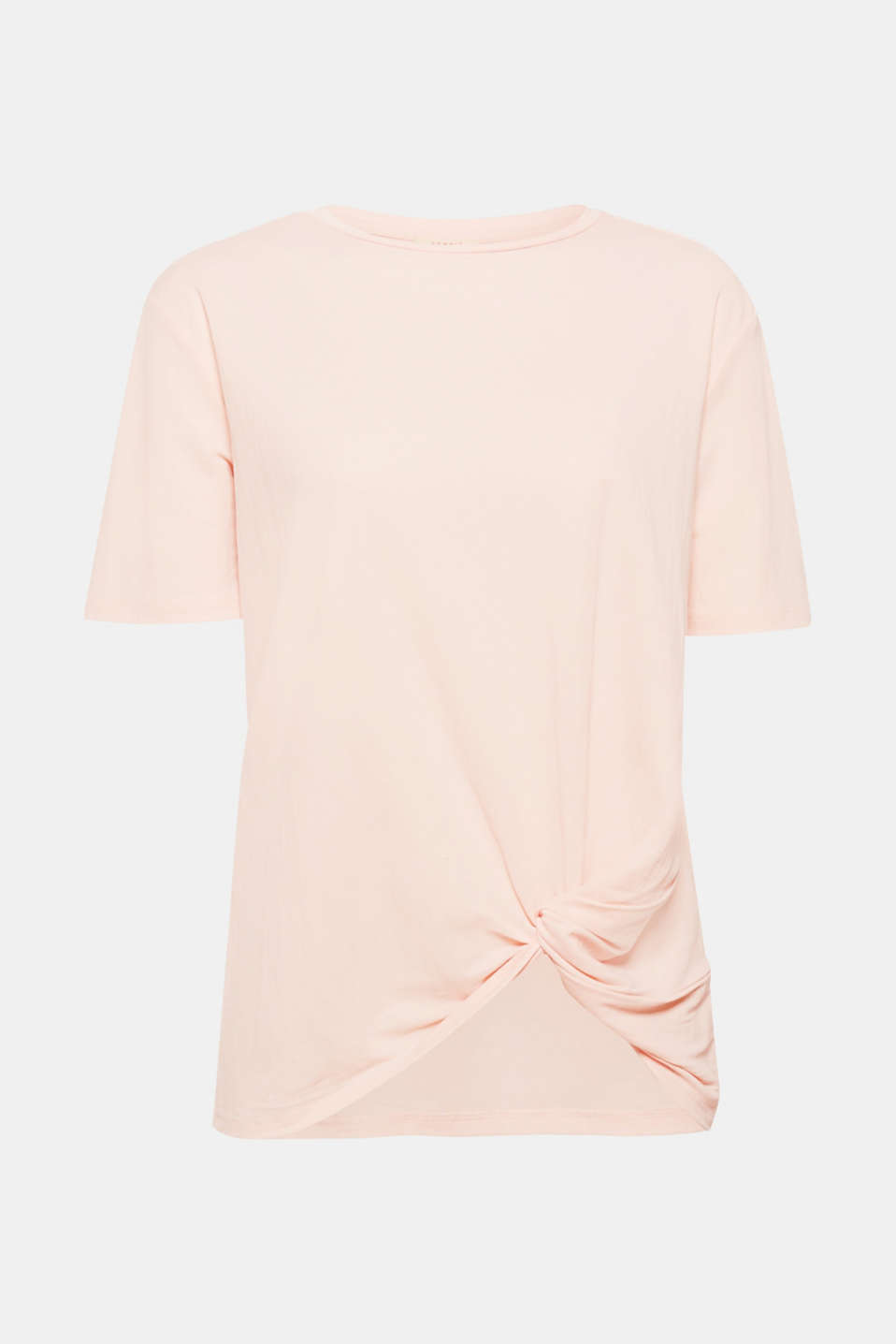 DESIGN EDITION: the loose cut featuring draping at the side of the hem makes this casual yet sophisticated T-shirt extremely eye-catching!