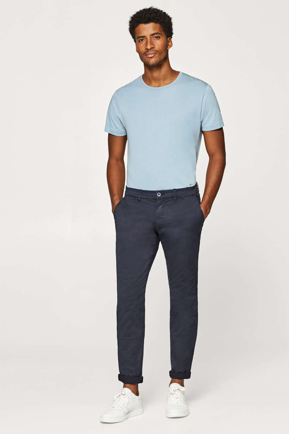 Esprit - Stretch chinos in a classic design