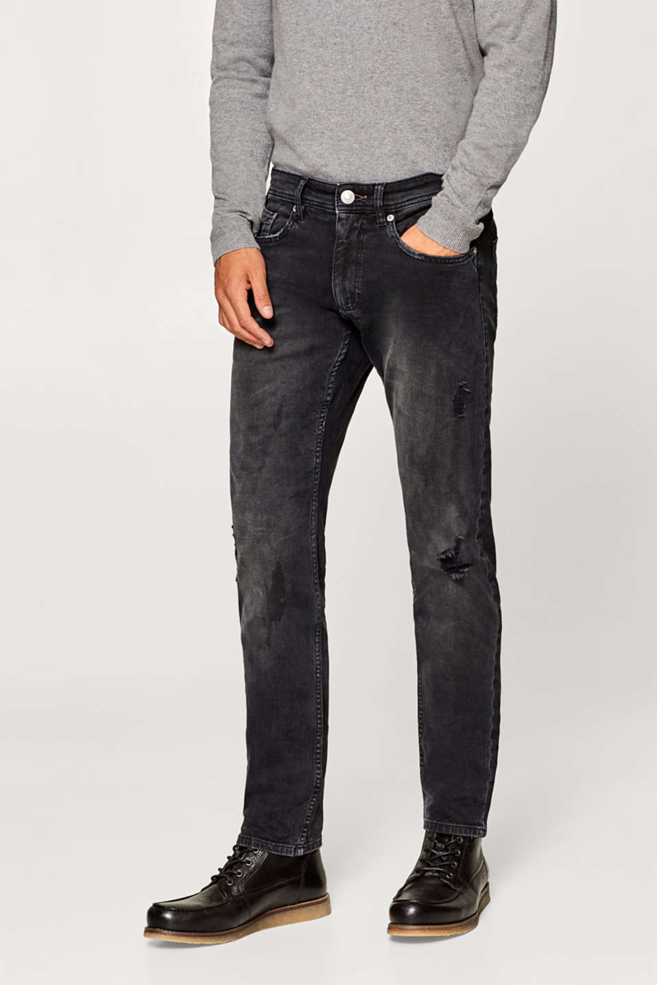 Esprit - Stretch jeans with vintage effects