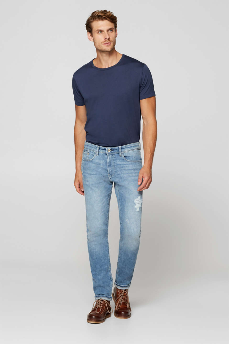 Esprit - Stretch-Jeans mit Destroyed-Effekten