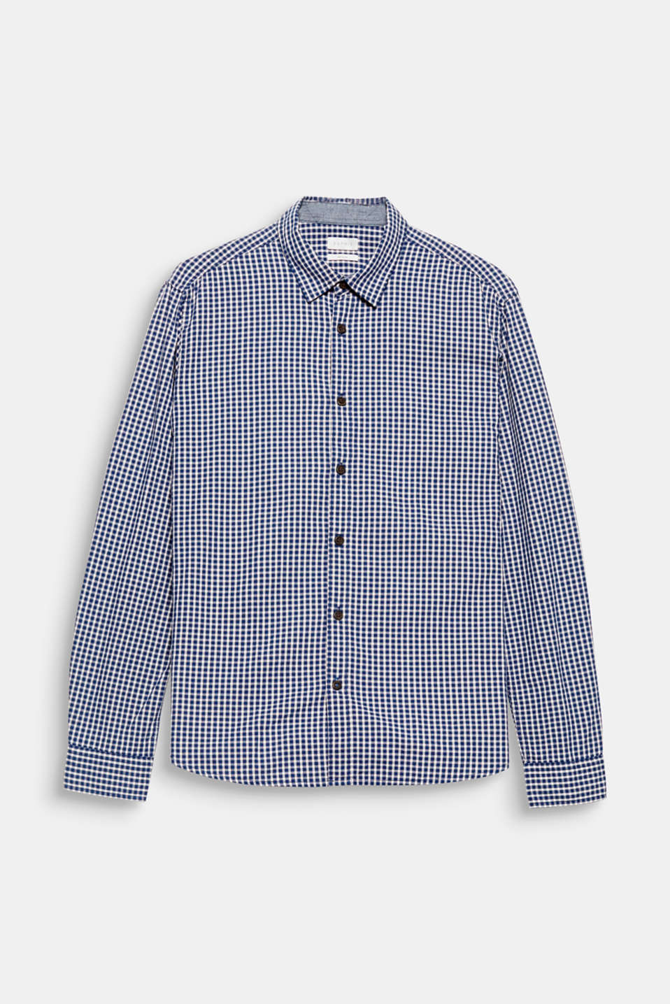 A classic: shirt with a check pattern in 100% cotton.