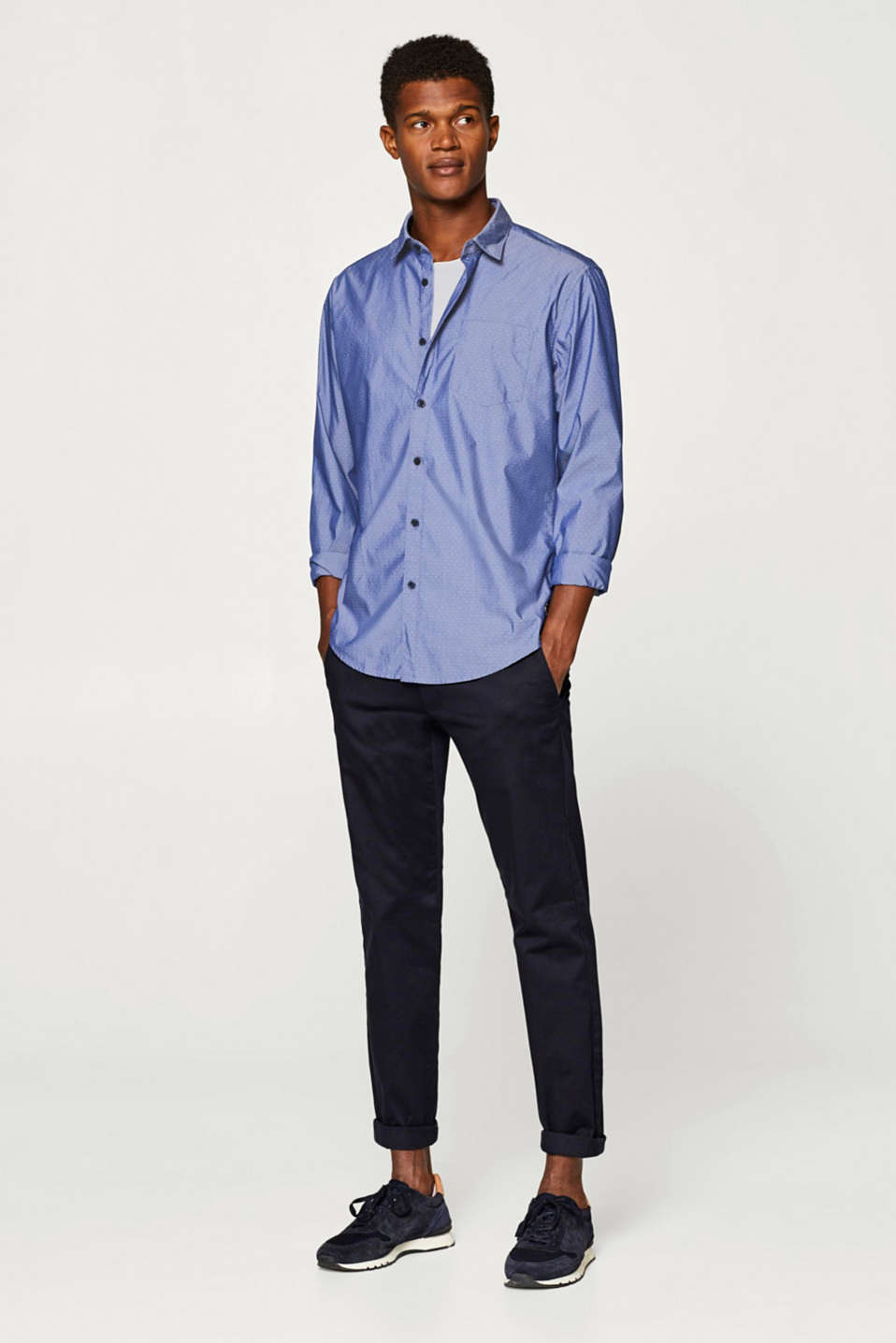 Chambray shirt with COOLMAX®