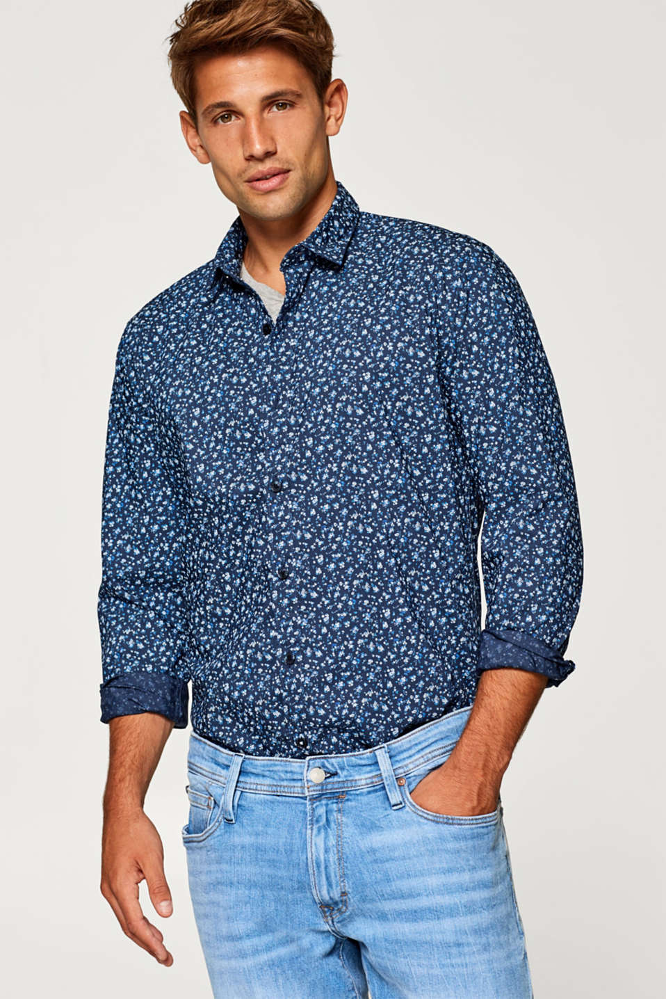 Esprit - Shirt with minimal pattern and COOLMAX®