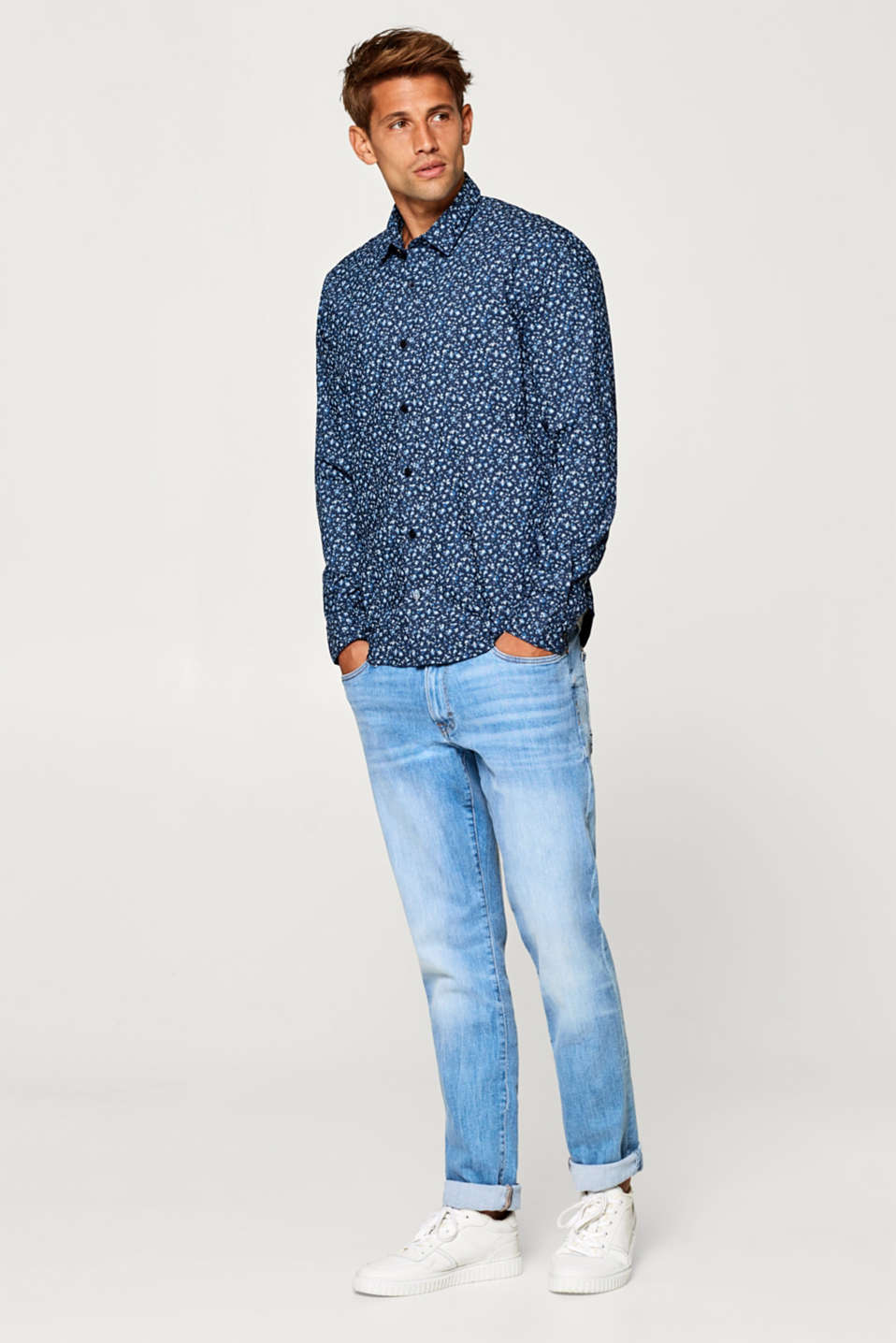 Shirt with minimal pattern and COOLMAX®