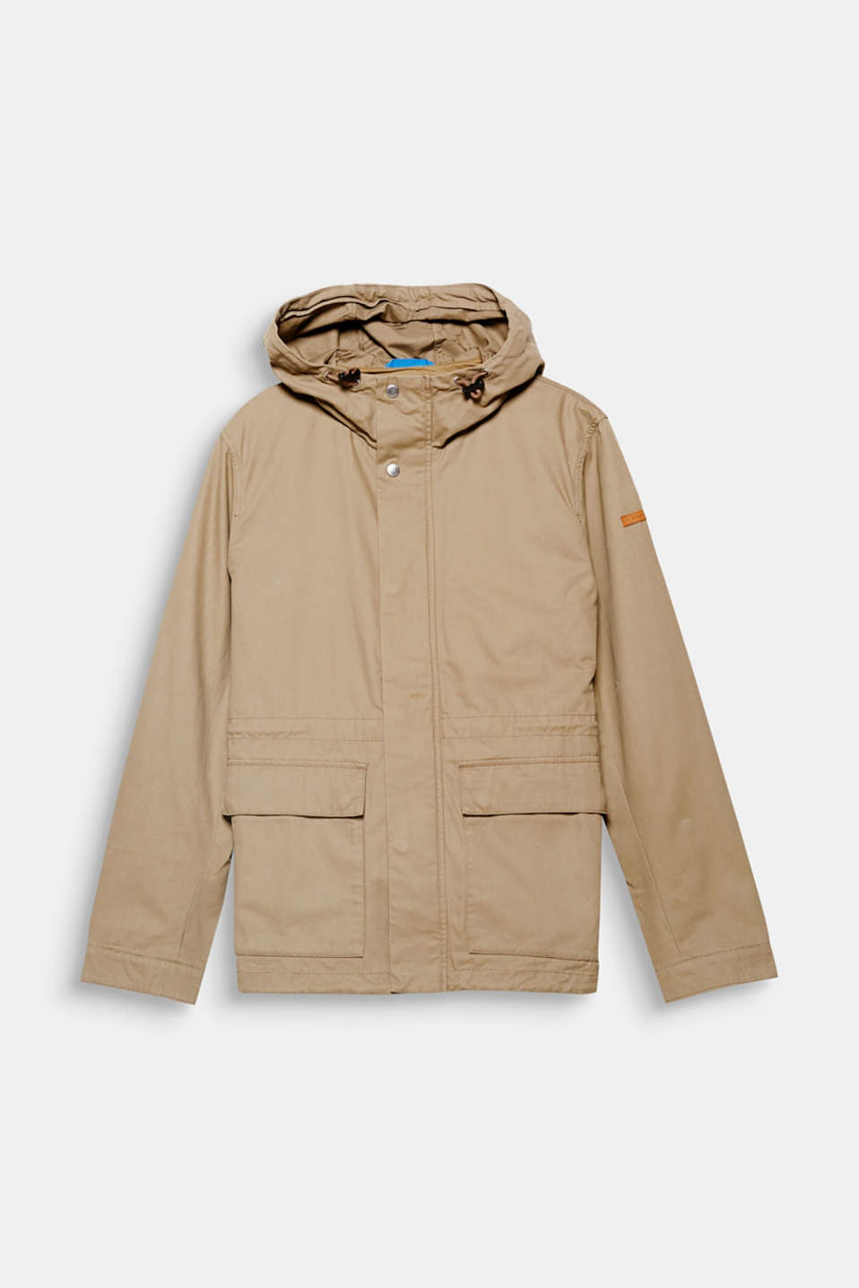 Perfect for the change in seasons! Thanks to the high-collar and hood, this jacket is perfect for