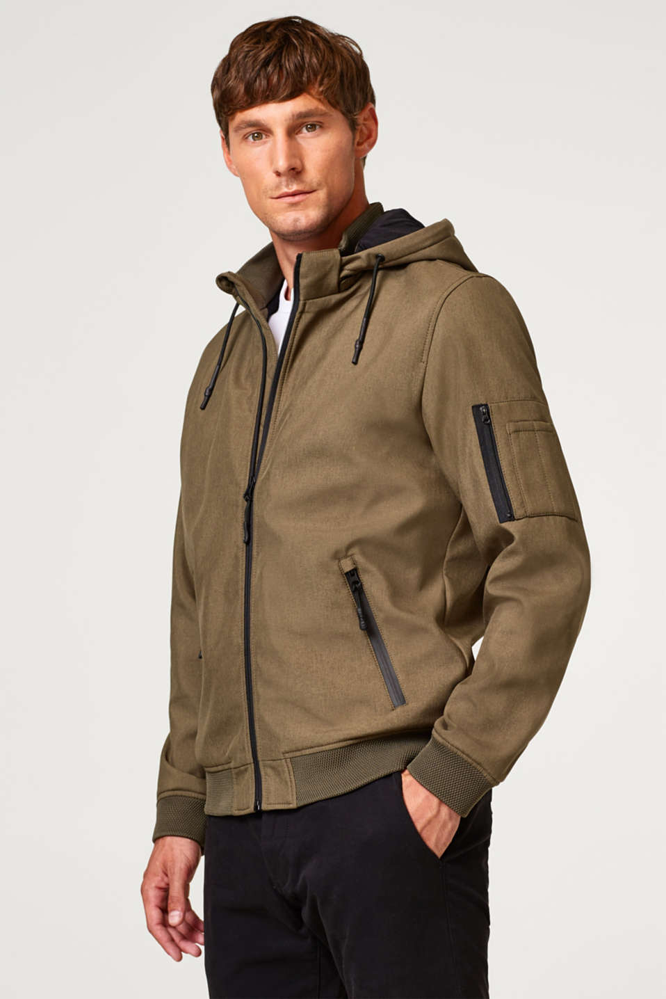 Esprit - Between-the-seasons jacket with a hood