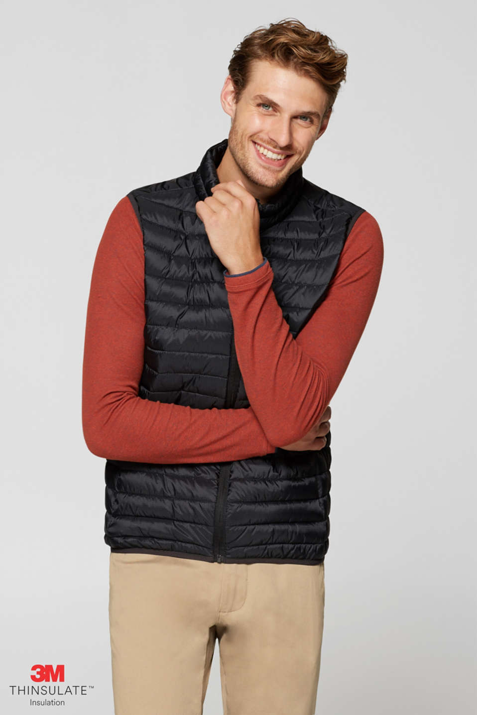 Esprit - Quilted body warmer with 3M® Thinsulate® padding