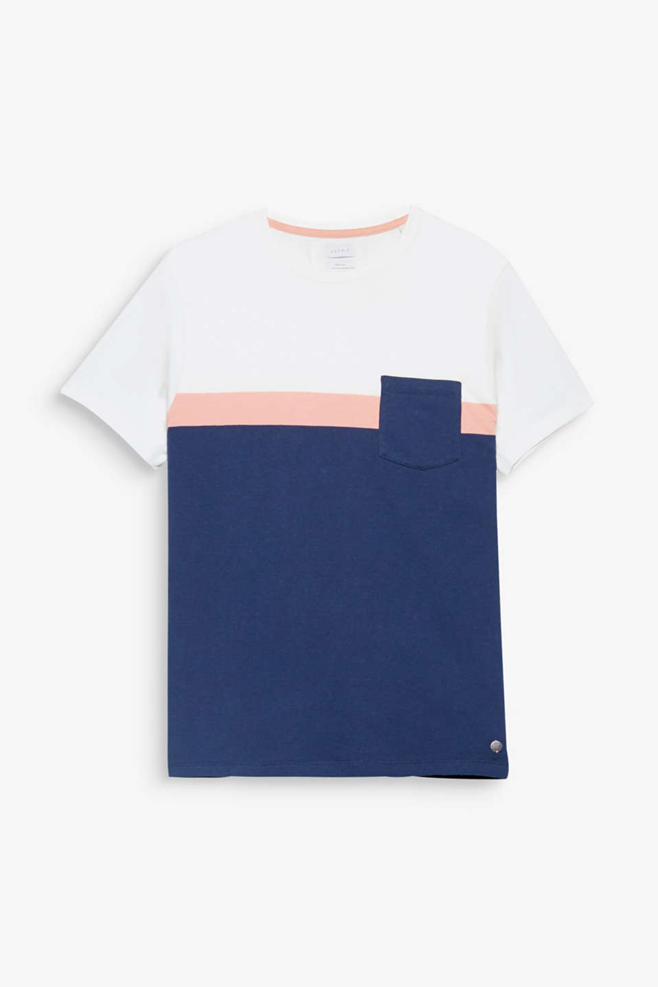Block stripes in trendy colours make this pure cotton T-shirt a stylish favourite.