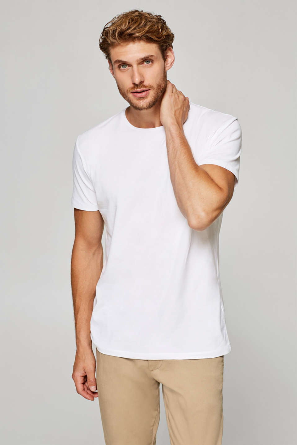 Esprit - Double pack of jersey T-shirts with stretch for comfort