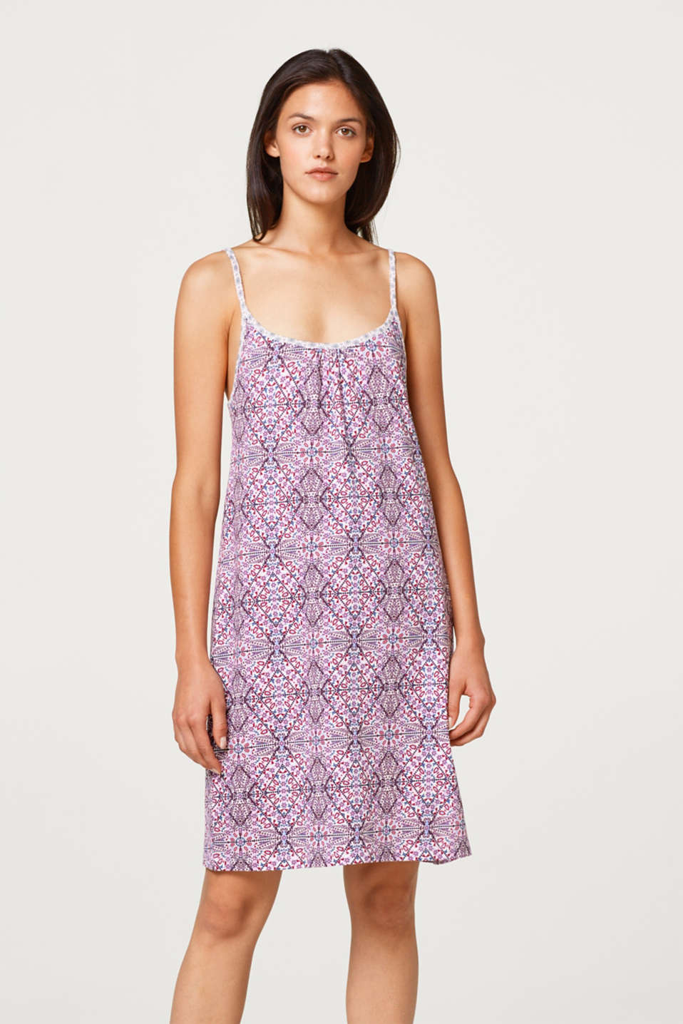 Esprit - Jersey print nightdress, 100% cotton