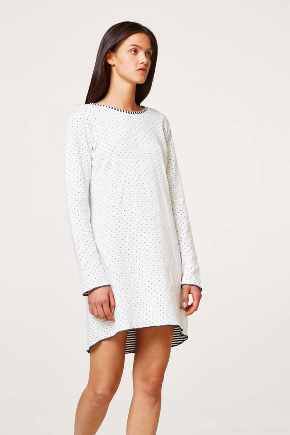 Cotton nightshirt made of double-faced jersey