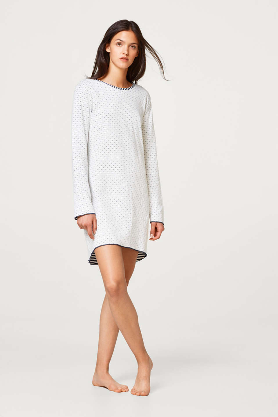 Esprit - Cotton nightshirt made of double-faced jersey