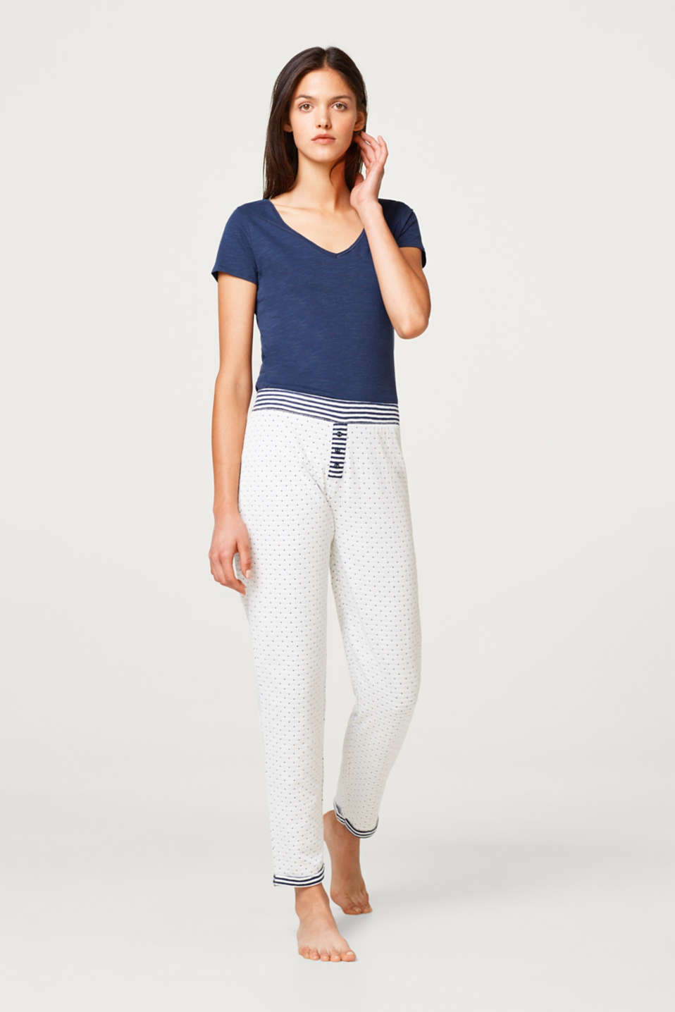 Esprit - Casual bottoms in double-faced jersey