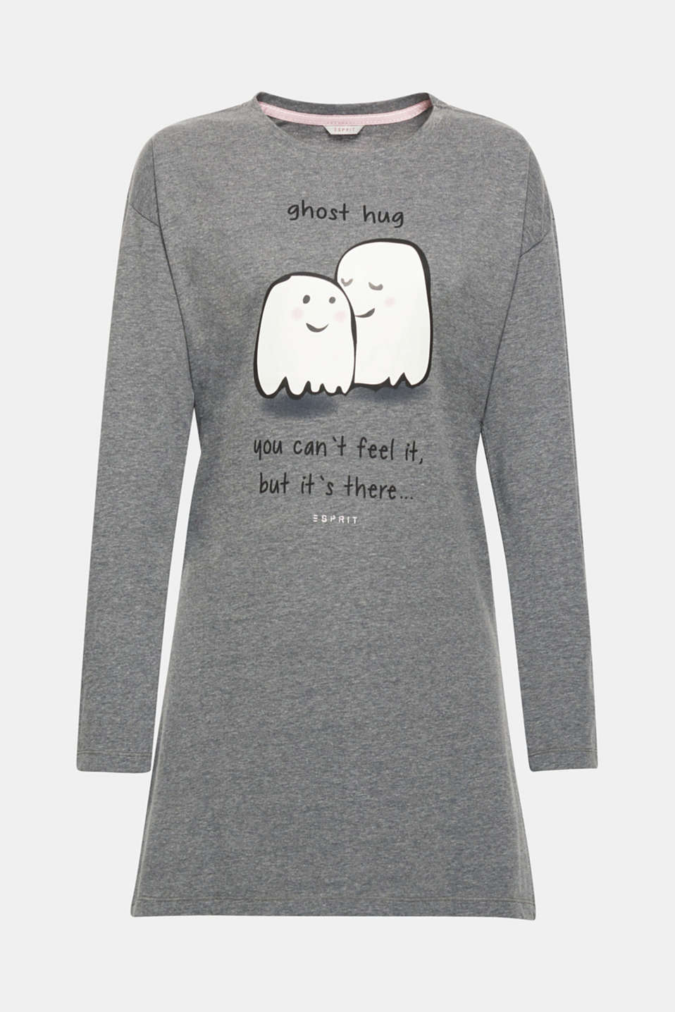 Splendidly spooky! A ghost print on the front gives this jersey nightshirt its particularly charming look and promises to deliver sweet dreams.