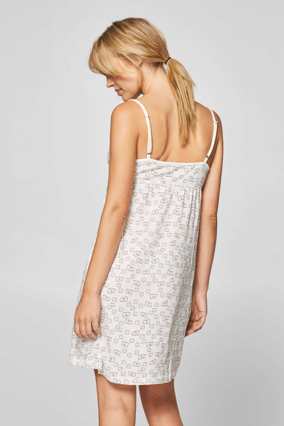 Printed cotton nightshirt