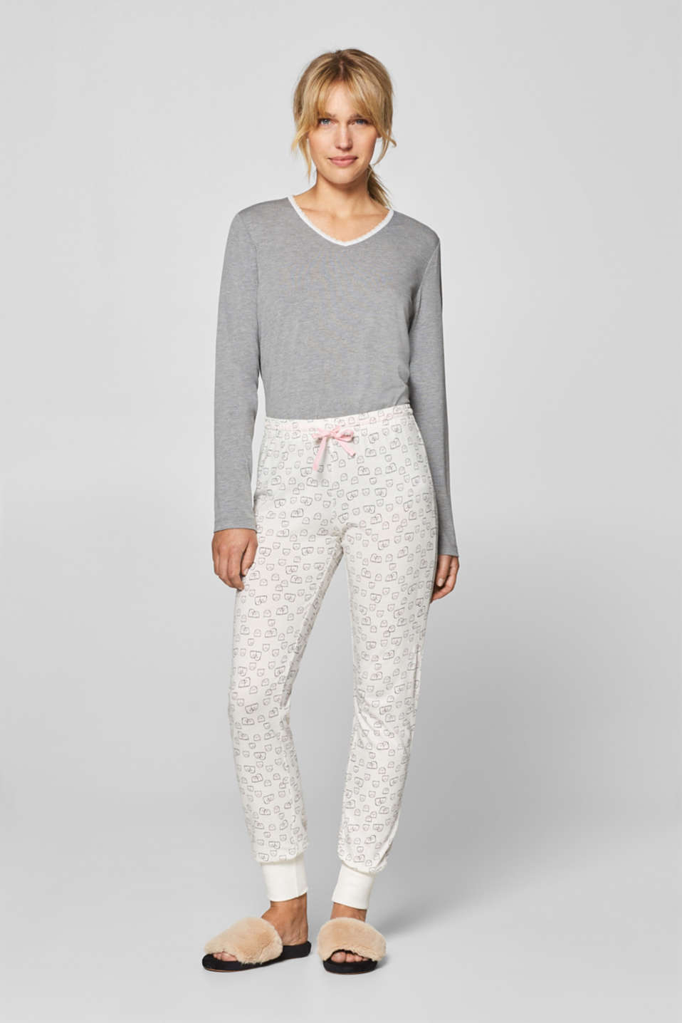 Esprit - Cotton bottoms with a ghost print