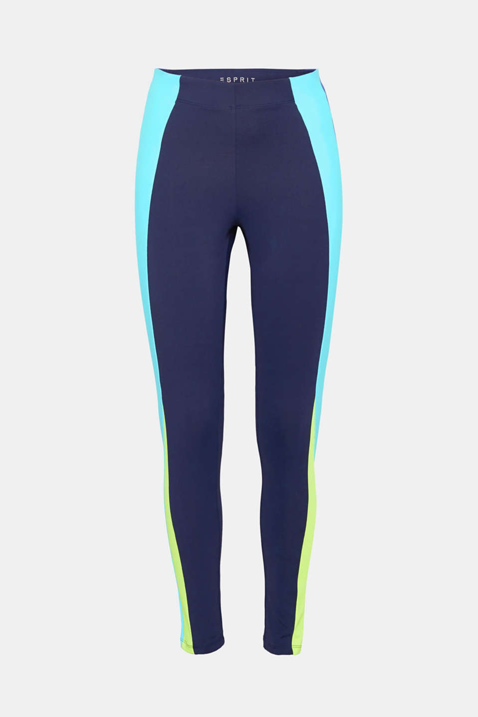 These active leggings with colour block stripes and an E-DRY finish create visual accents and accentuate a slim silhouette!