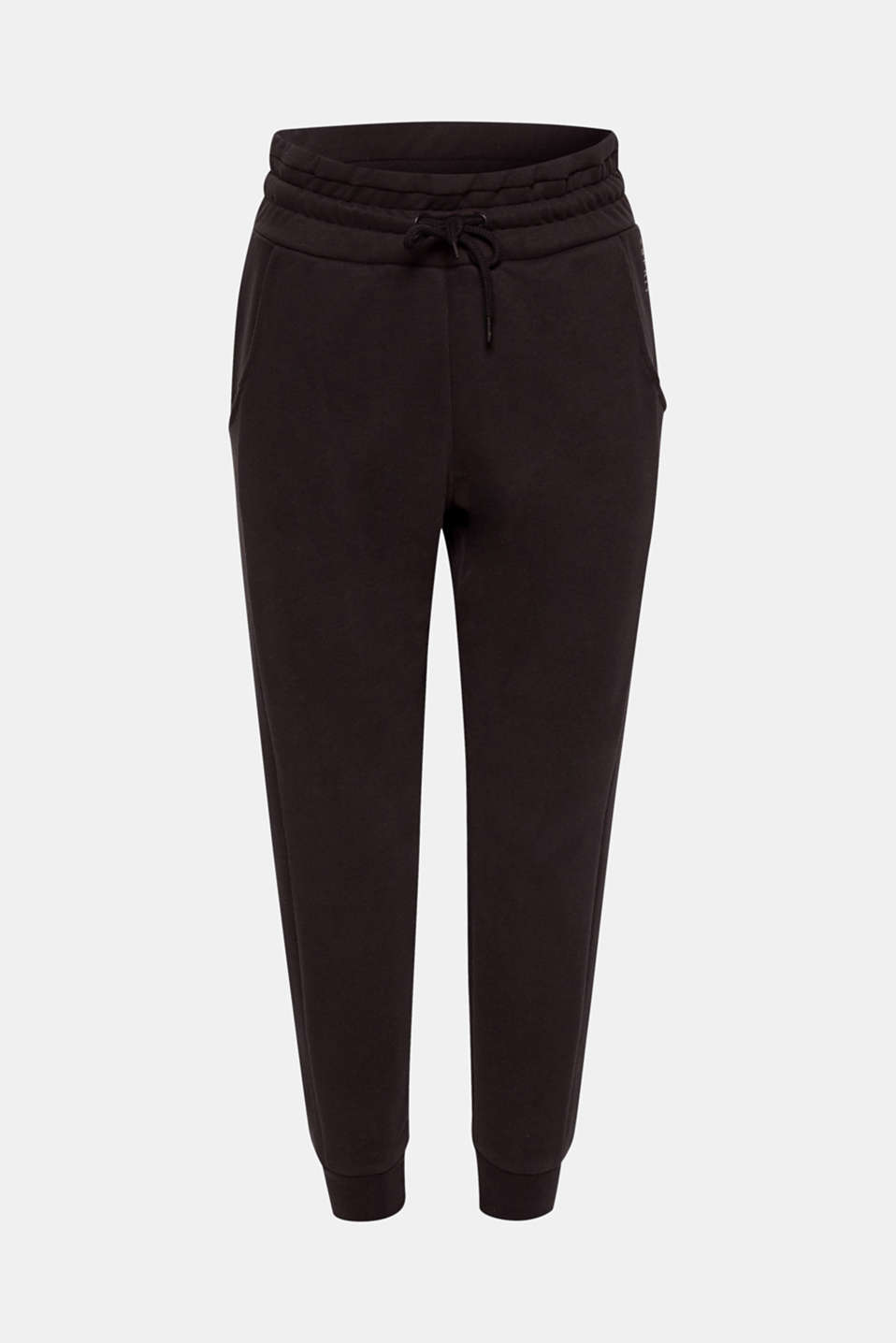 We love sports! These tracksuit bottoms in soft, snug jersey are great for both the gym and the way there.