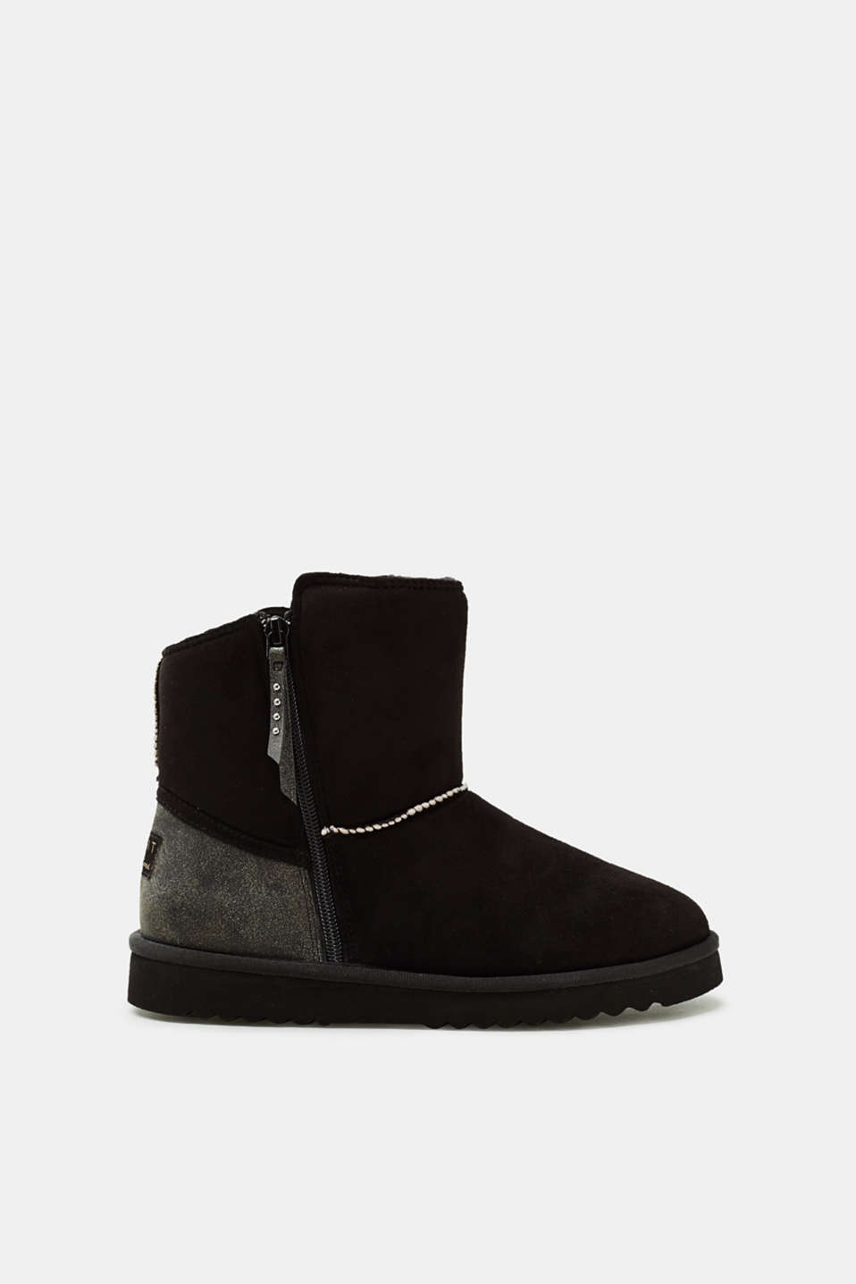 Esprit - Short winter ankle boot with faux fur lining