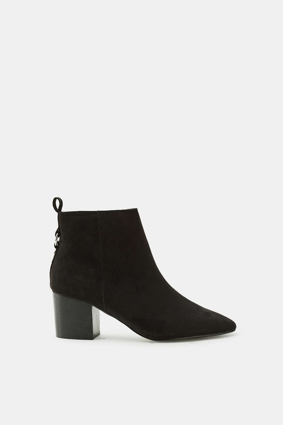 Esprit - Boots with a block heel, in faux suede