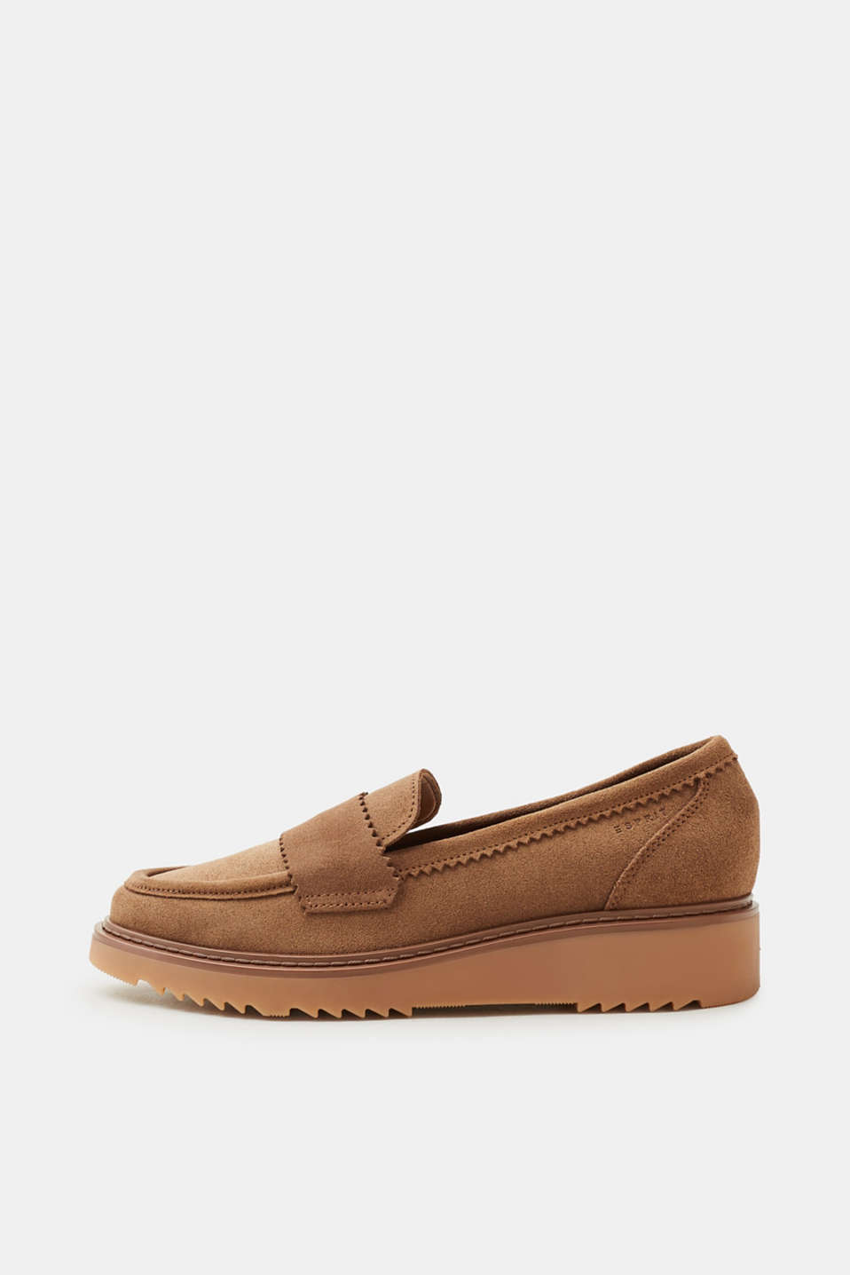 Esprit - Leather loafers with a platform sole