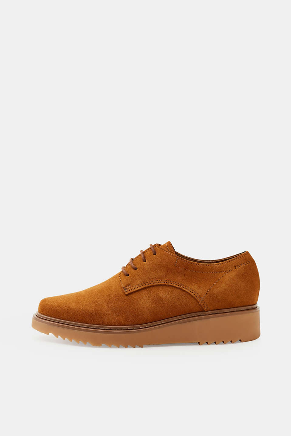 Esprit - Lace-up leather shoes with a platform sole