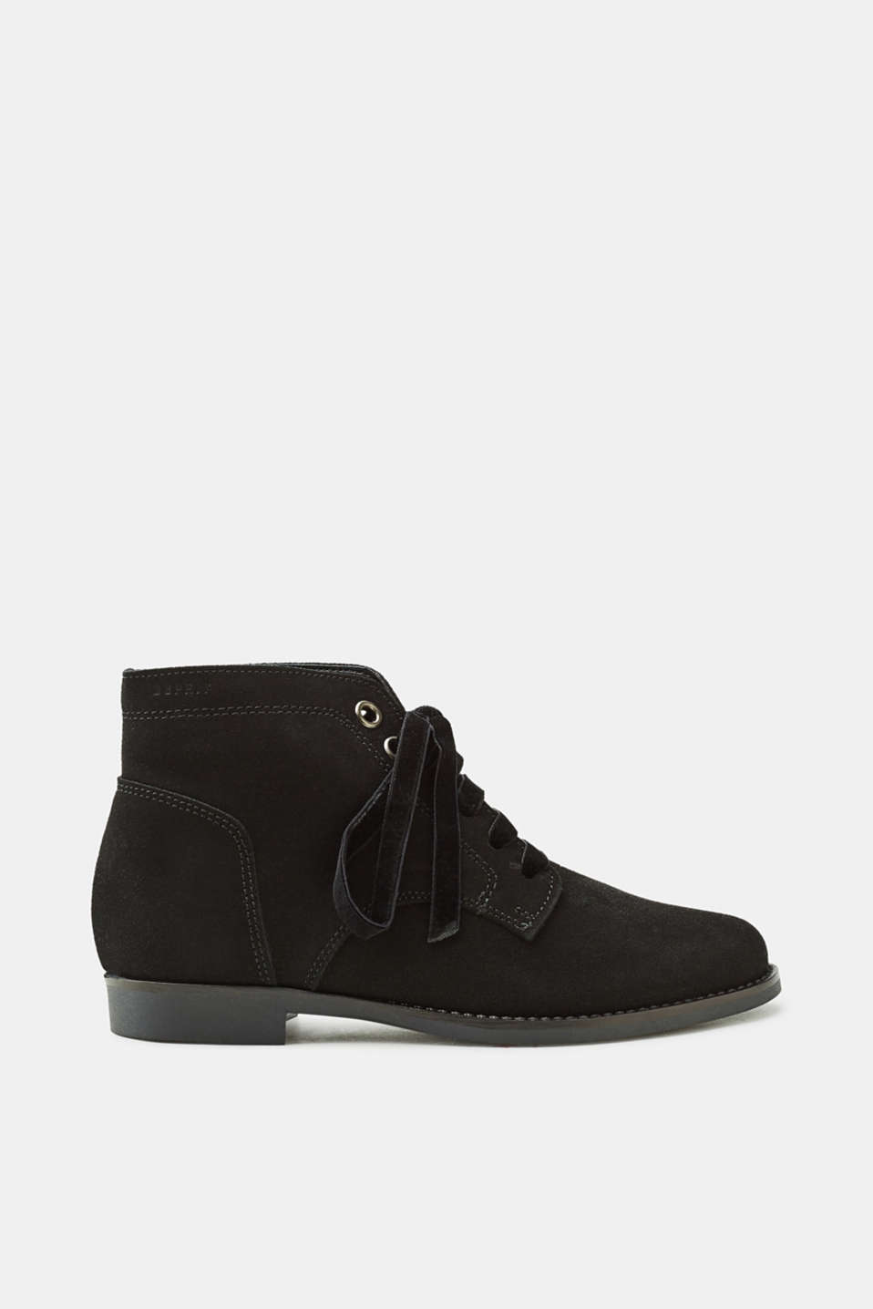 Esprit - Suede lace-up boots