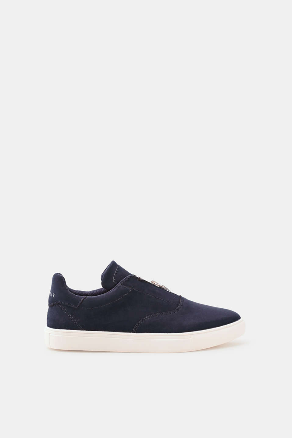 Esprit - Trend trainers with a zip, in faux nubuck leather