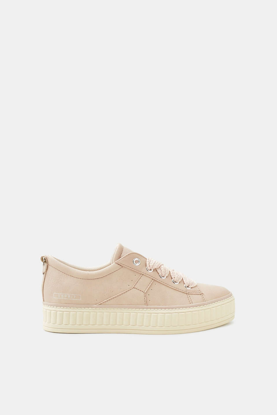 Esprit - Platform trainers in faux leather
