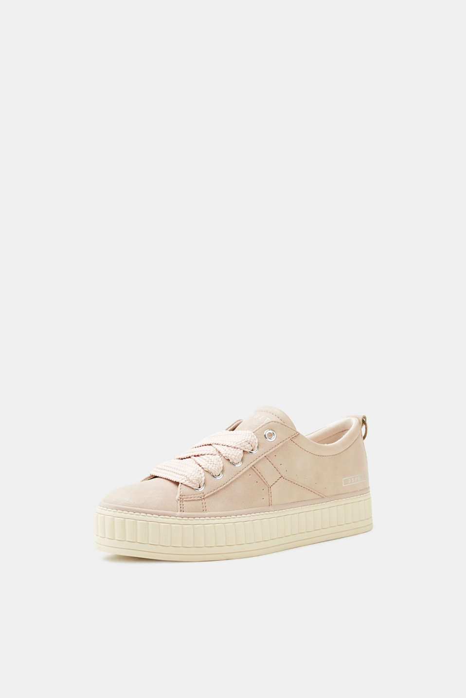 Platform trainers in faux leather