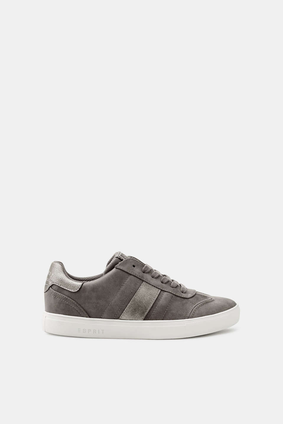 Esprit - Trendy trainers in faux nubuck