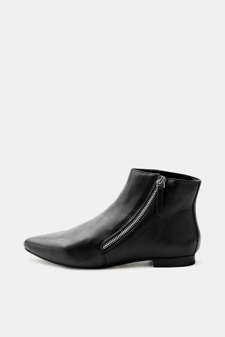 Esprit - Pointed ankle boots in sheepskin