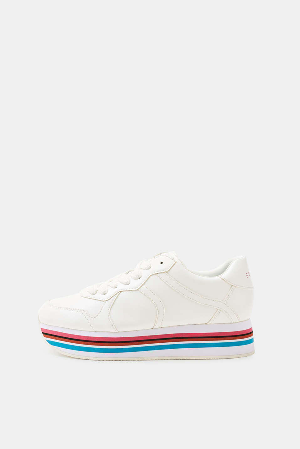Esprit - Platform trainers in a retro style, made of faux leather